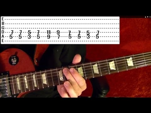 ENTER SANDMAN - Metallica (2 of 2) Guitar Lesson