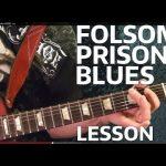 Folsom Prison Blues -JOHNNY CASH Guitar Lesson — EASY