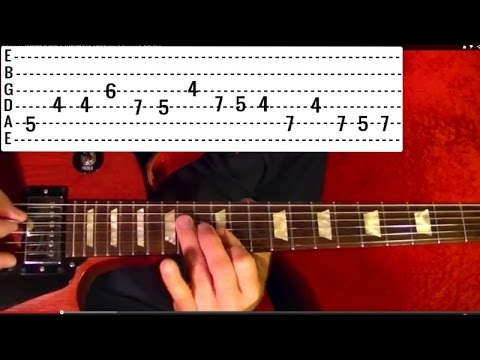 Guitar Lesson - LED ZEPPELIN - Black Dog - ( 1 of 2 ) With Printable Tabs )