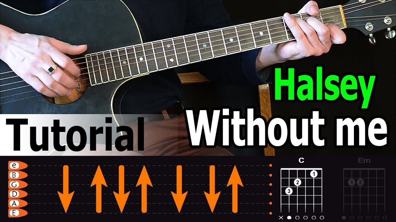 Halsey - Without Me Guitar Tutorial