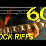 How to Play 60 Rock Riffs — Guitar Lesson — Beginners