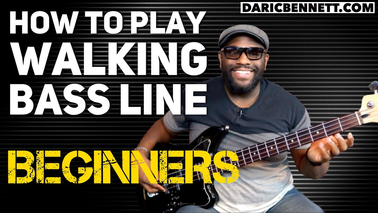 How to Play A Walking Bass Line Lesson Bass Guitar for Beginners Daric Bennetts Bass Lessons