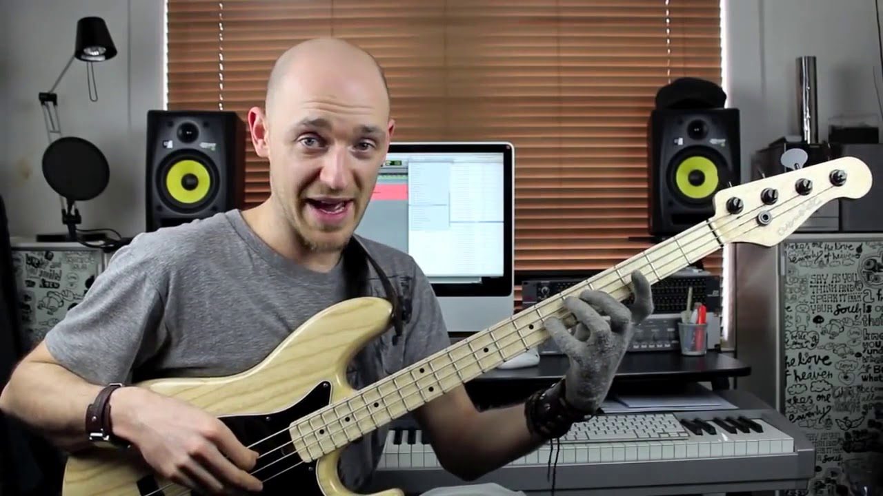 Играем шагающий бас (walking bass) - часть 2 (урок бас гитара)