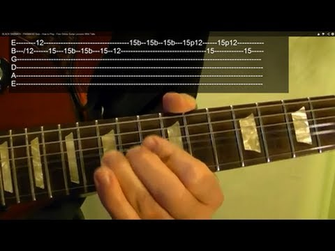 IRON MAIDEN - Number of the Beast - Guitar Lesson ( 1 of 3 )