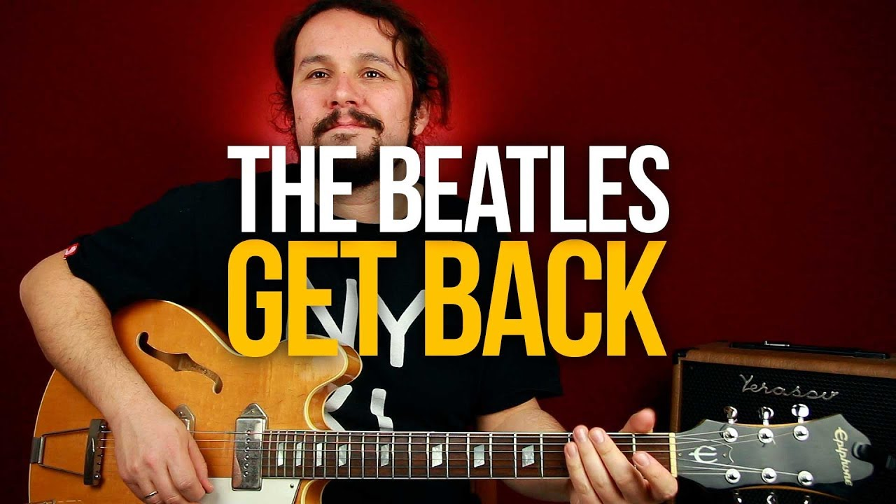 Как играть The Beatles Get Back на гитаре