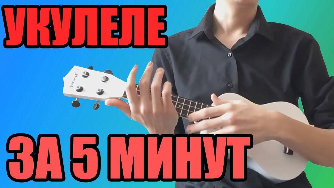 Как научиться играть на укулеле ЗА 5 МИНУТ