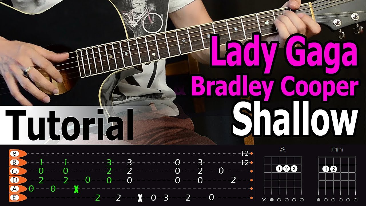 Lady Gaga & Bradley Cooper - Shallow Easy Guitar Tutorial