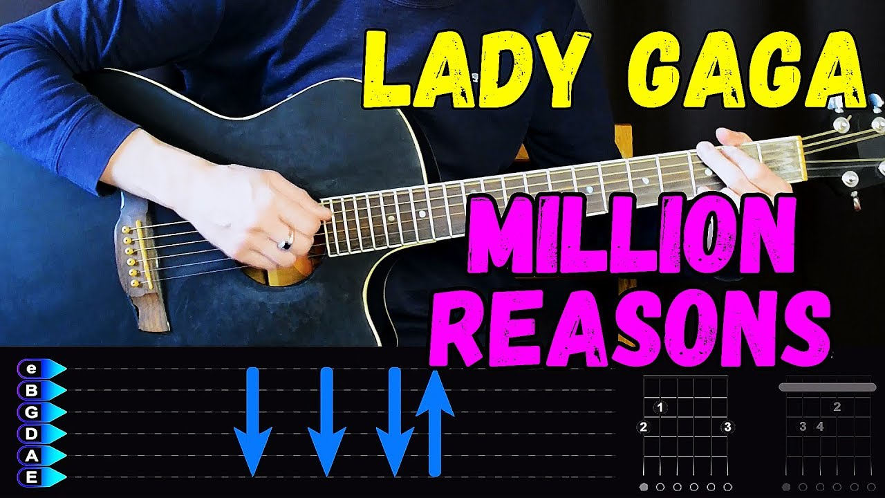 Lady Gaga - Million Reasons - Easy Guitar Tutorial