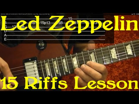 LED ZEPPELIN 15 Best Riffs Guitar Lesson