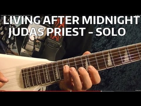 Living After Midnight Solo - JUDAS PRIEST - Guitar Lesson - EASY