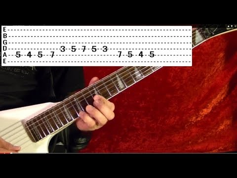 LOOKS THAT KILL - MOTLEY CRUE - Guitar Lesson - Beginners