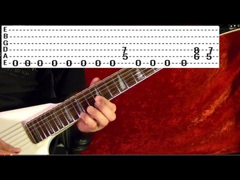 METAL ON METAL - Anvil - Guitar Lesson - EASY
