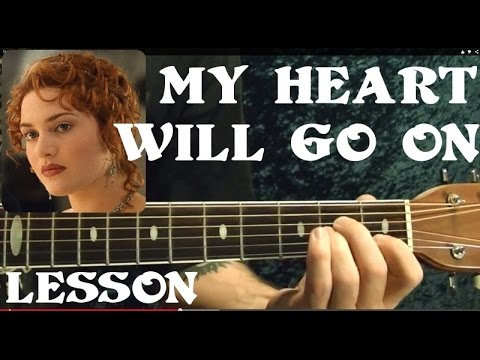 MY HEART WILL GO ON ( TITANIC Theme ) Guitar Lesson - Beginners