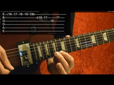 NOVEMBER RAIN - Solo 2 - Guns N Roses - Guitar Lesson - Slash