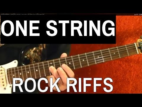 ONE STRING ROCK RIFFS Guitar Lesson Beginners