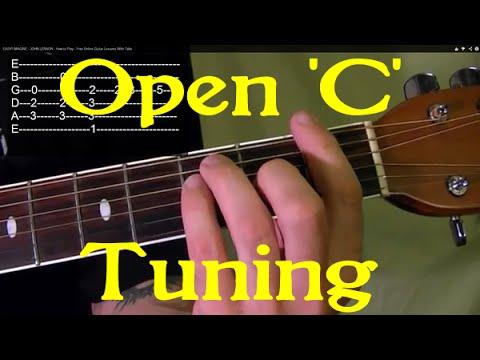 Open 'C' Tuning - Guitar Lesson