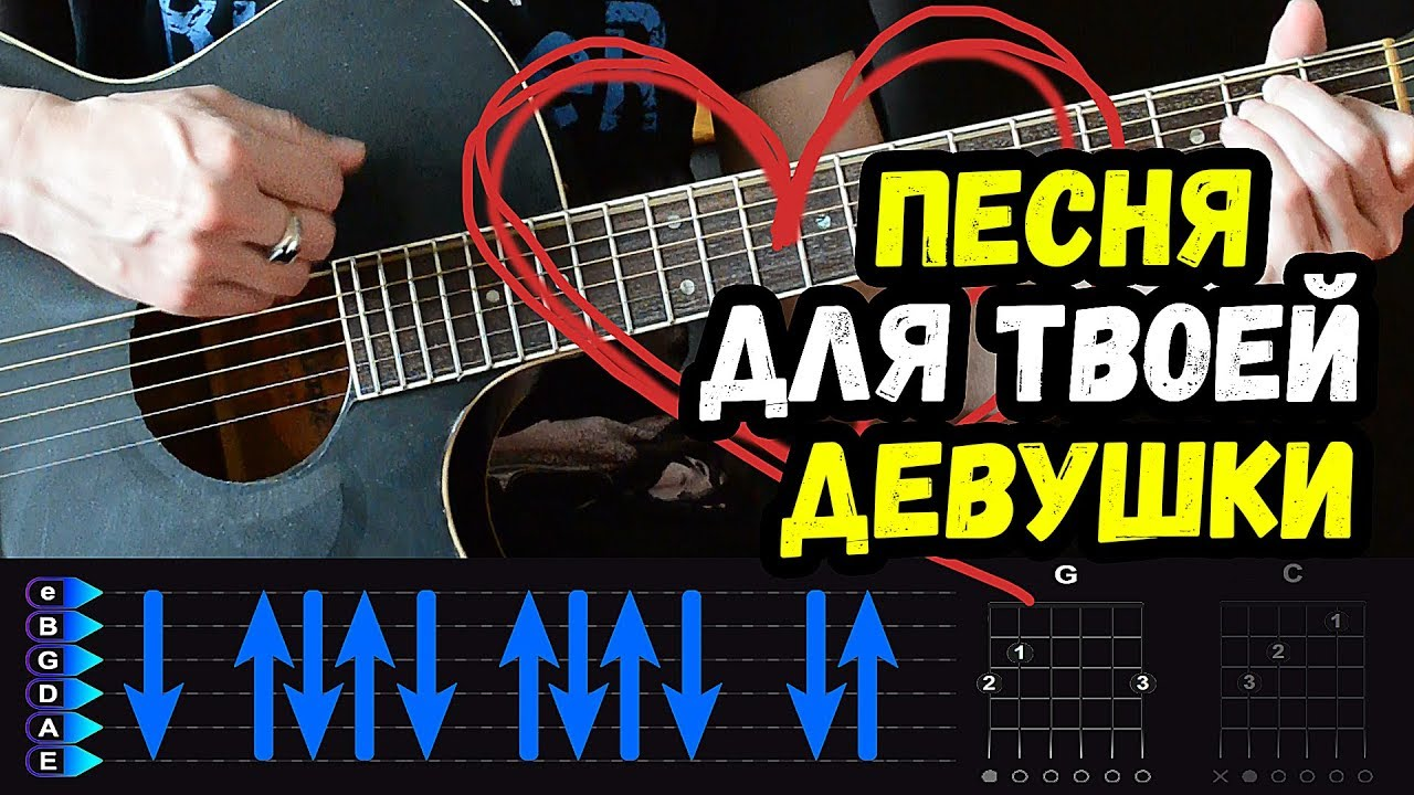 Песня для твоей Девушки Твоя Нежная Походка на гитаре