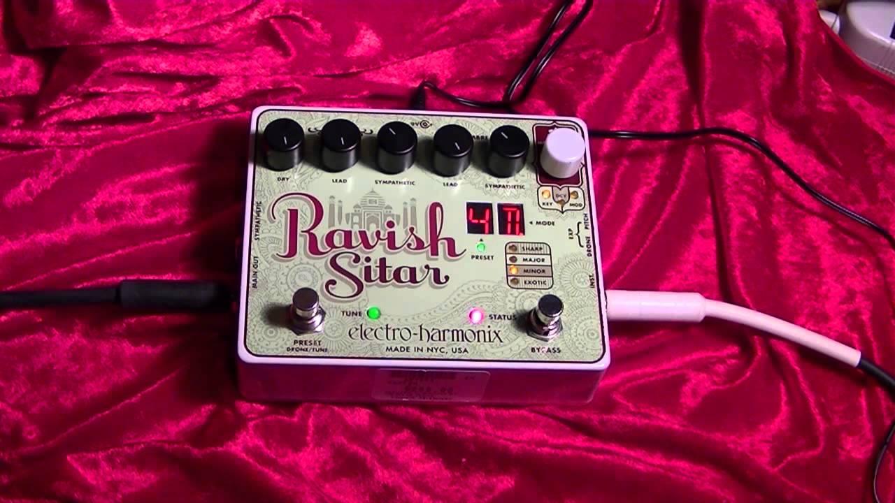 Ravish Sitar ( Electro Harmonix ) Guitar Effects Pedal Demonstration by BobbyCrispy