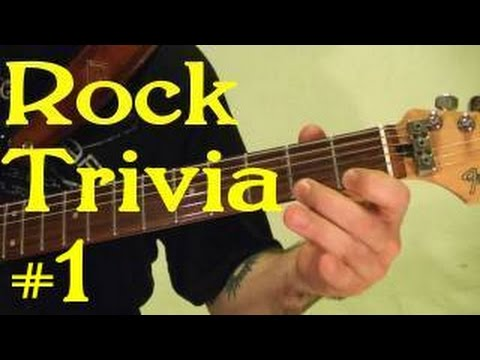 ROCK GUITAR TRIVIA 1 of 3 - Name All 15 Songs ( by BobbyCrispy )