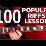 Rock Riffs Guitar Lesson - 100 BEST Part 10 of 10