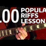 Rock Riffs Guitar Lesson - 100 BEST Part 5 of 10