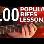 Rock Riffs Guitar Lesson — 100 BEST Part 6 of 10