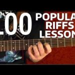 Rock Riffs Guitar Lesson — 100 BEST Part 2 of 10