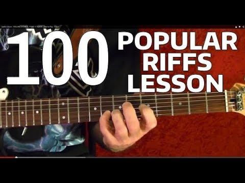 Rock Riffs Guitar Lesson - 100 BEST Part 2 of 10