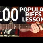 Rock Riffs Guitar Lesson — 100 BEST Part 7 of 10