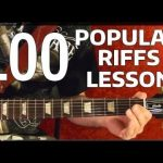 Rock Riffs Guitar Lesson — 100 BEST Part 4 of 10