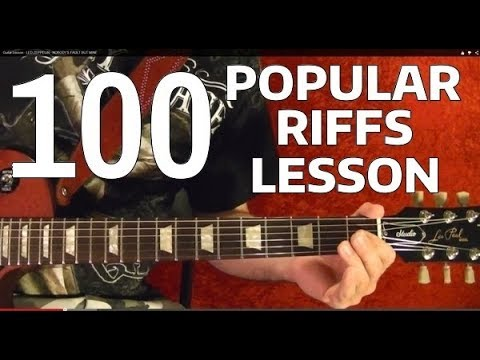 Rock Riffs Guitar Lesson - 100 BEST Part 4 of 10