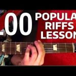 Rock Riffs Guitar Lesson — 100 BEST Part 3 of 10