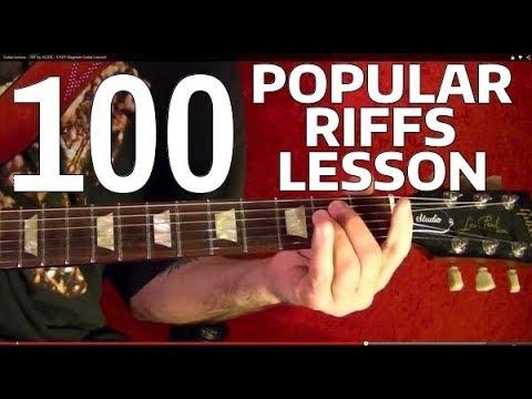 Rock Riffs Guitar Lesson - 100 BEST Part 8 of 10