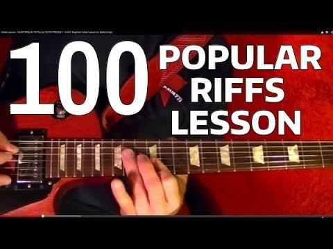 Rock Riffs Guitar Lesson Part 1 of 10