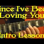 Since I've Been Loving You Intro LED ZEPPELIN Guitar Lesson