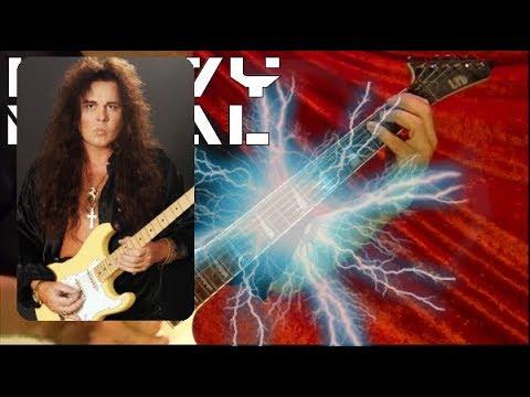 SUPER FAST GUITAR SHREDDING at 2X speed lol ( Ingwie Malmsteen Version ) by Bobby Crispy
