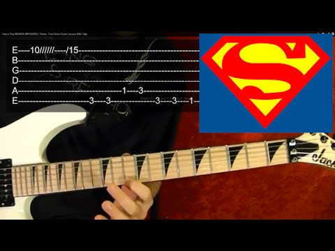 SUPERMAN Theme - Guitar Lesson