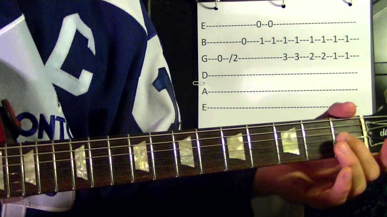 The Hockey Song ( The Good Old Hockey Game ) - Guitar Lesson