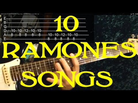 THE RAMONES Guitar Lesson - 10 Songs