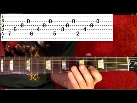 Unforgiven 3 - METALLICA - Guitar Lesson