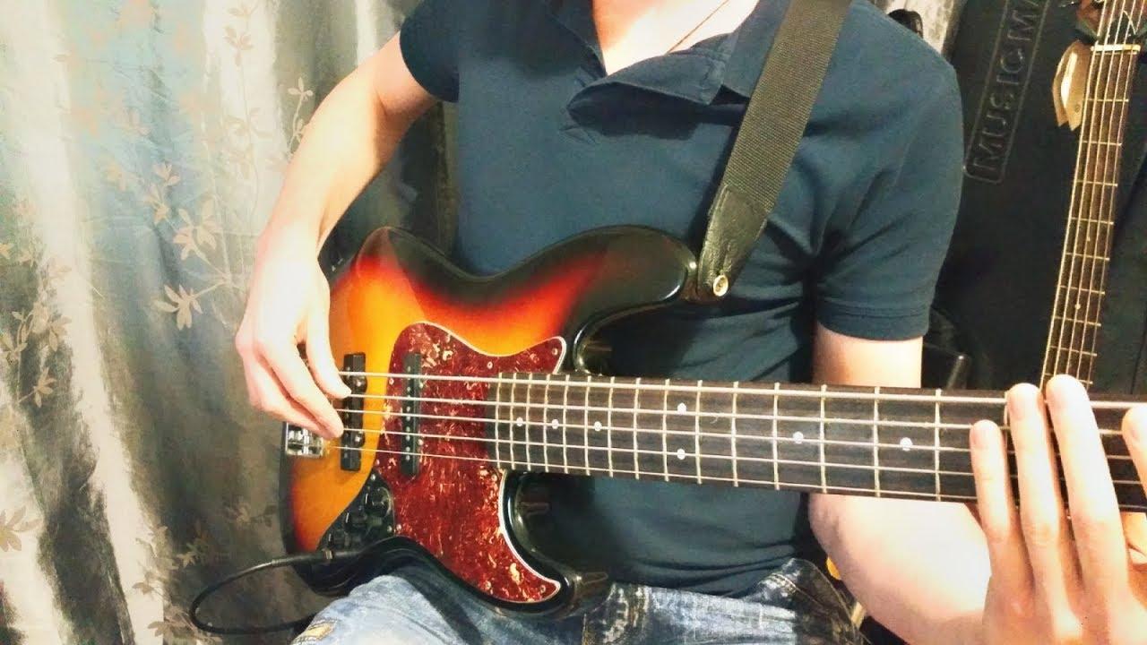 Урок Бас-гитары. Основные нюансы глушение вышестоящих струн большим пальцем правой руки.